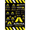 ARMA ENERGY LOGO DECAL SHEET