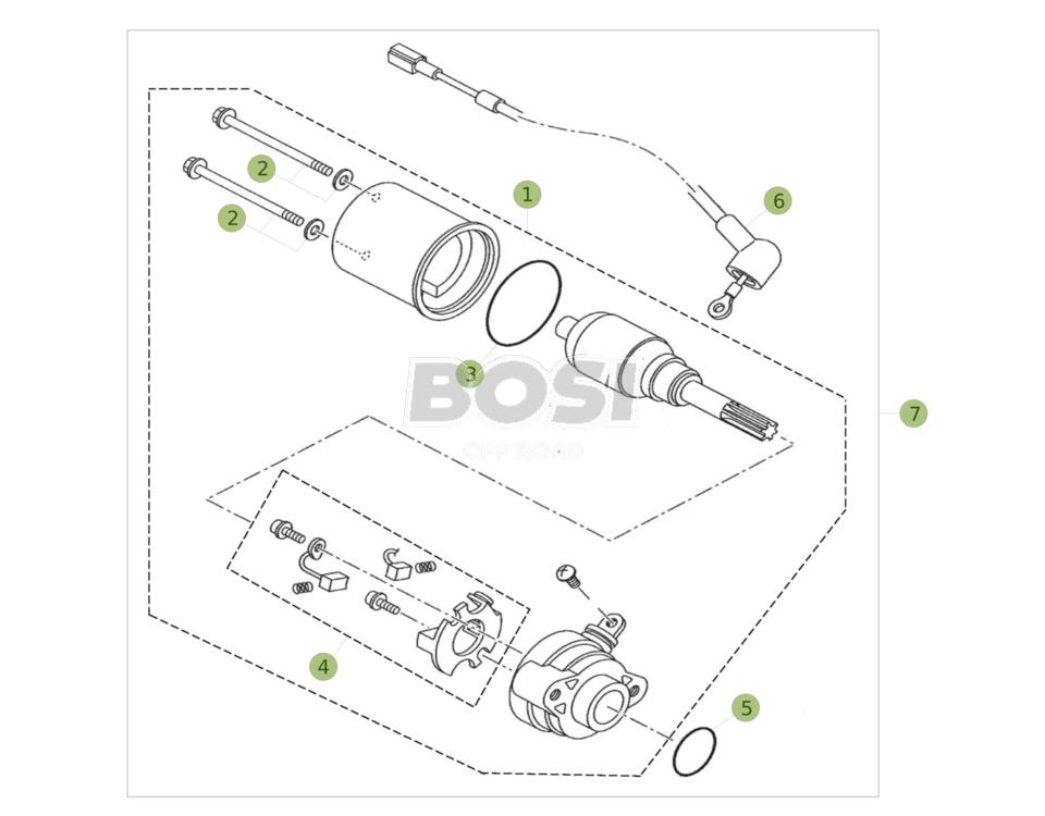 Schema Elettrico Motorino Avviamento : Avviamento elettrico bosishop offroad