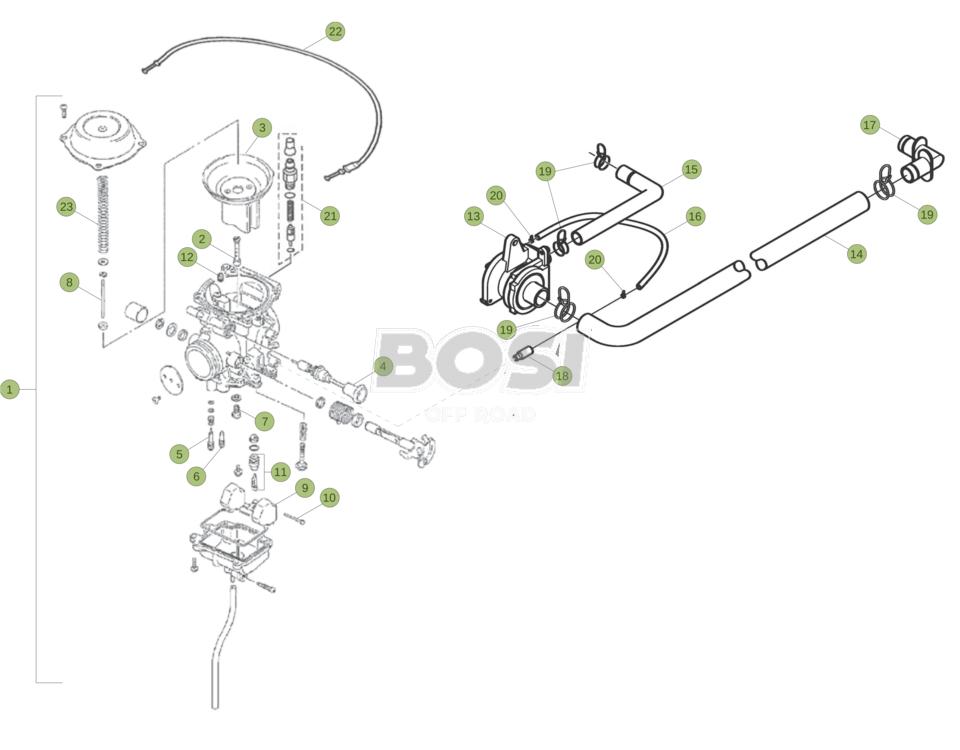 livraison gratuite offre sélectionner pour authentique carburatore - BosiShop Offroad