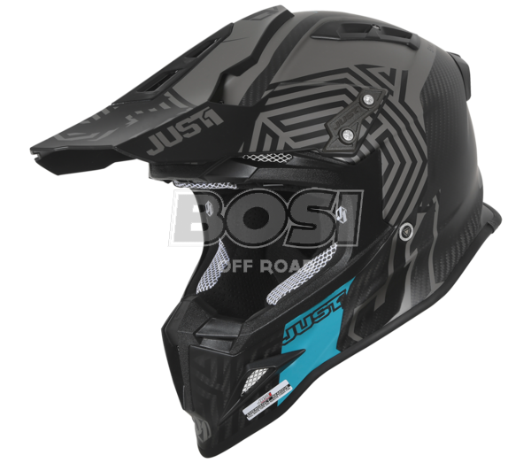 CASCO J12 JUST 1 SYNCRO  NERO OPACO / TURCHESE